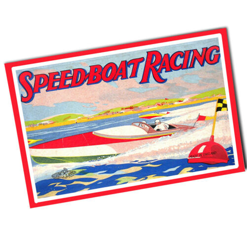 """Two Speedboat Racing 1930/'s Game Design 11x17/"""" Reproduction Wall Posters"""