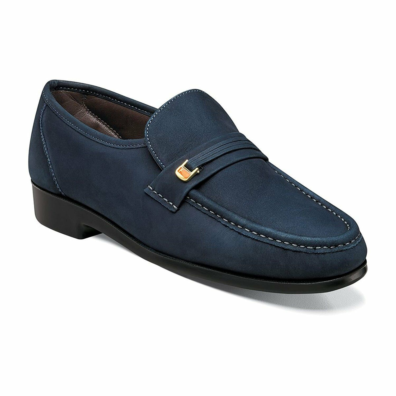 Florsheim Men's Riva leather Indigo leather shoes 17088-401