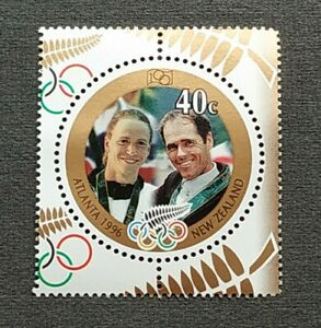 1996-New-Zealand-Sports-Atlanta-Olympic-Games-Gold-Medal-Winners-1v-Stamp-MNH