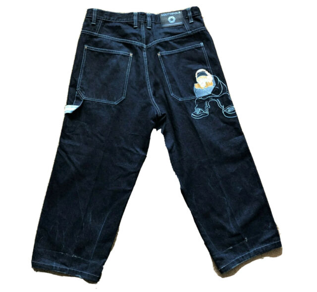 Southpole Baggy Carpenter Embroidered Straight Leg Jeans Mens 36 x 26 Hip Hop
