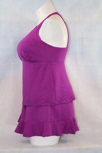 Swim-365-Swimsuit-Tankini-Top-Swim-Skirt-Set-Pink-H-back-Control-Support-NEW-16W