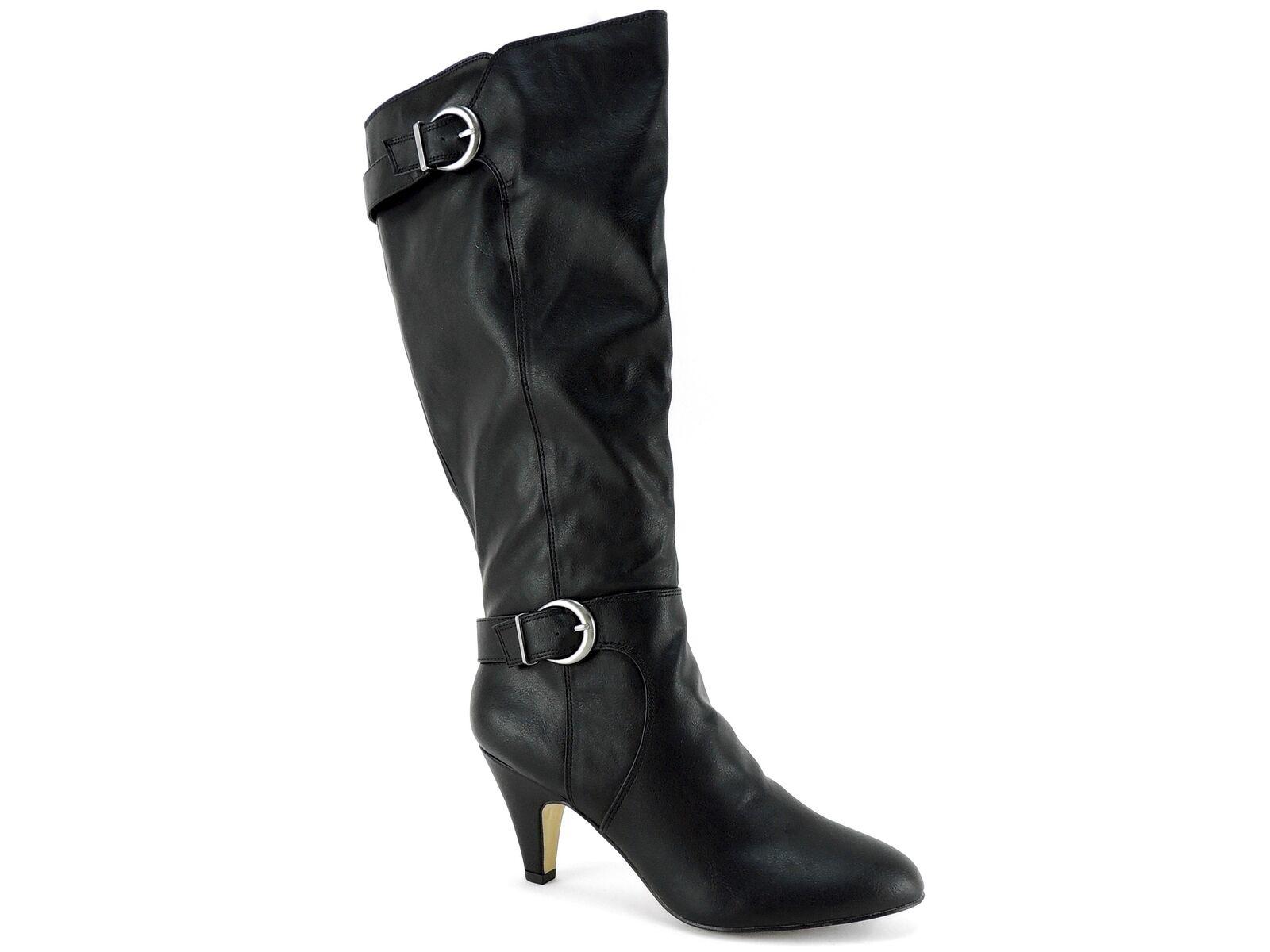 Bella Vita Women's Toni II Plus Harness Boots Black Size 8.5 M Wide Calf