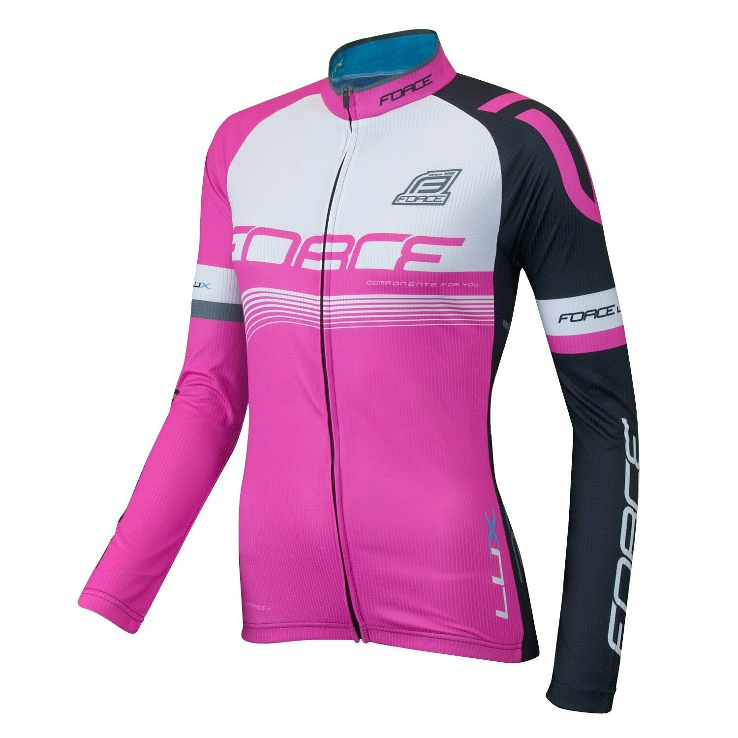 Force Cycling bike  Women's Force Lux Long Sleeve Jersey size MEDIUM NEW FREE PP