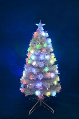 4FT//5FT Green Christmas Tree Pre Lit Fibre Optic LED Lights Star Gold Pink White