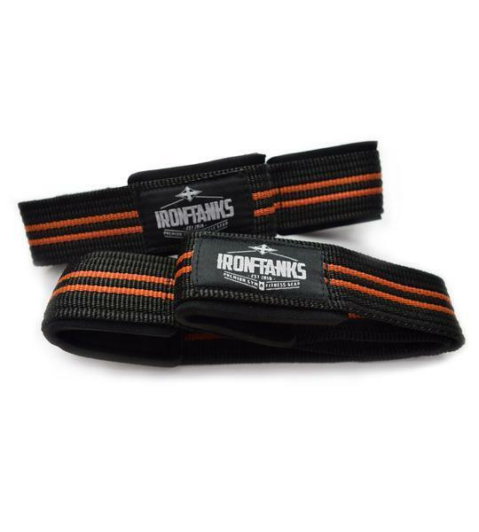 HEAVY STRAPS DUTY FIGURE 8 BODYBUILDING WEIGHTLIFTING GYM STRAPS HEAVY WRIST WRAPS S047 ab95ab