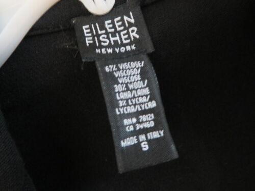 Blazer lycra a Viscose anteriore aperto lavorato maglia nero Fisher Ny lana Eileen Piccolo pw1UX1