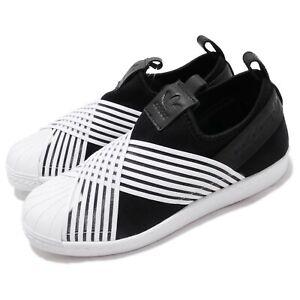 Detalles acerca de Adidas Originales Superstar Slip On W Negro Blanco  Zapatos Mujer Slip On D96703- mostrar título original