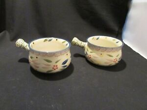 Temptations Old World By Tara Soup Bowls With Handles Set of 2