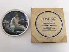 1981 US Historical Society COLLECTOR PLATE Boating By Edouard Manet