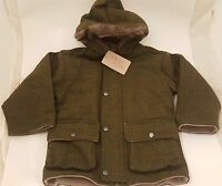 British Country Collection Boys Parka Tweed Jacket Coat - Sizes M & L