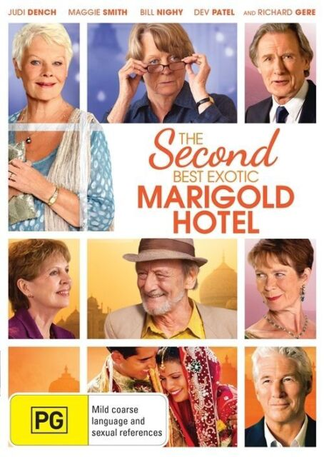 The Second Best Exotic Marigold Hotel, DVD, Region 4, Judi Dench, Richard Gere.