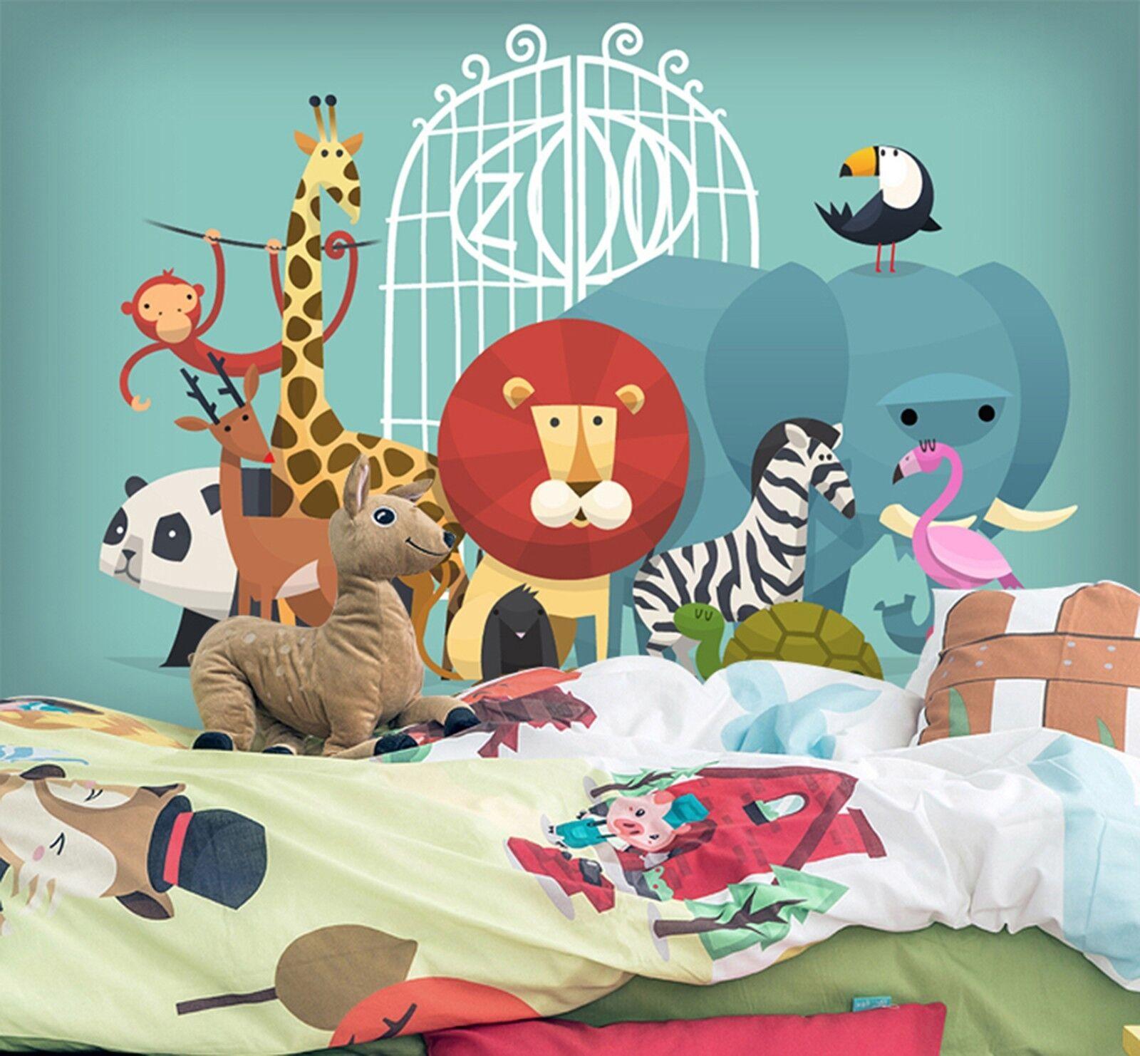 3D Cartoon Animals 944 Wallpaper Mural Paper Wall Print Wallpaper Murals UK