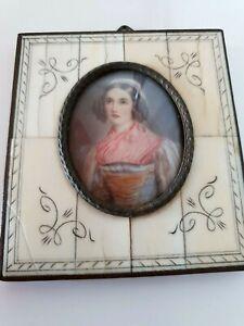 """Diligent Ancienne Miniature Tableau De Joseph Karl Stieler """"helene Sedlmayr""""-afficher Le Titre D'origine Nouveau Design (En);"""