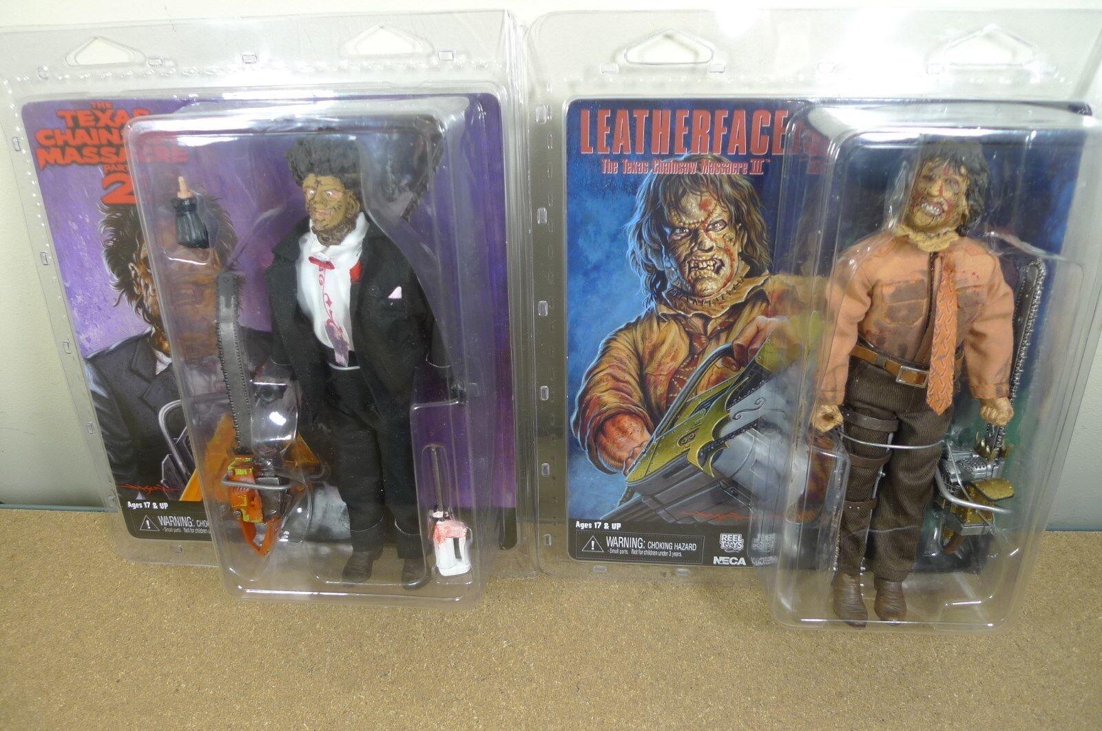 NECA Texas Chainsaw Massacre 2 & 3 porta vestiti Set di 2 Action Figure