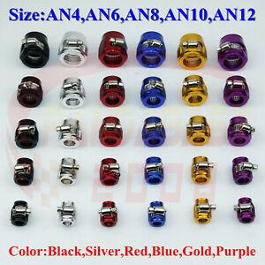 1PCS-AN4-4-6-AN6-8-8AN-10-AN10-12-AN12-Fuel-Hose-Clamp-Oil-Line-Finisher