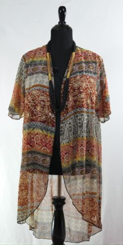 Duster Medium Front Open Vintage Top Passer Style 10 5 Shimmering Brown Color 7wq8OAxB