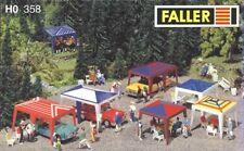 Party-Zelte, Gartenmöbel, Faller 130358, Spur HO 1/87, Stühle, Tische, Zubehör..