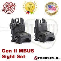 Magpul Usa Mbus Gen 2 Flip Up Sights Buis Set Front & Rear Mag247 & Mag248 Black