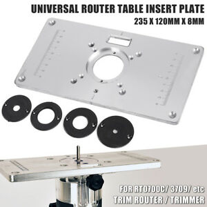 Aluminium router table insert plate for rt0700c universal trimmer image is loading aluminium router table insert plate for rt0700c amp greentooth Image collections
