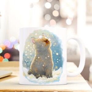 Kindergeschirr & -besteck Baby Tasse Becher Katze Im Schnee Winter Kaffeetasse Geschenk Weihnachten Ts512