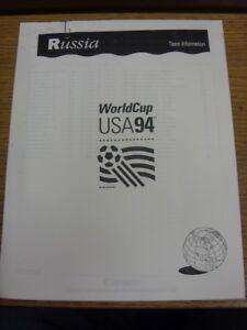 20061994 World Cup USA 94  Russia  Official FIFA Press PackTeam Informatio - Birmingham, United Kingdom - 20061994 World Cup USA 94  Russia  Official FIFA Press PackTeam Informatio - Birmingham, United Kingdom