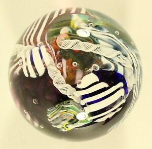 Jeremy-Sinkus-Signed-94-039-Ocean-Reef-Art-Glass-Paperweight