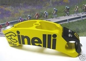 Cinelli-Alter-black-yellow-1-inch-ONCE-130mm-stem-NOS