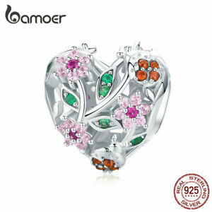 BAMOER-925-Sterling-silver-Hollow-charm-CZ-Bead-The-Ladybug-Fit-Bracelet-Jewelry