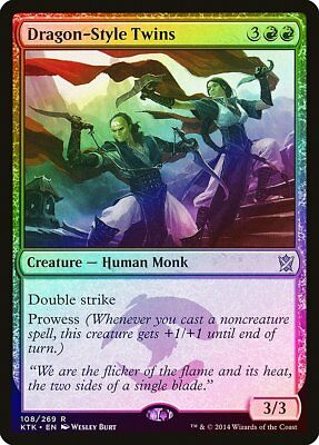Dragon-Style Twins FOIL Khans of Tarkir NM-M Red Rare MAGIC MTG CARD ABUGames