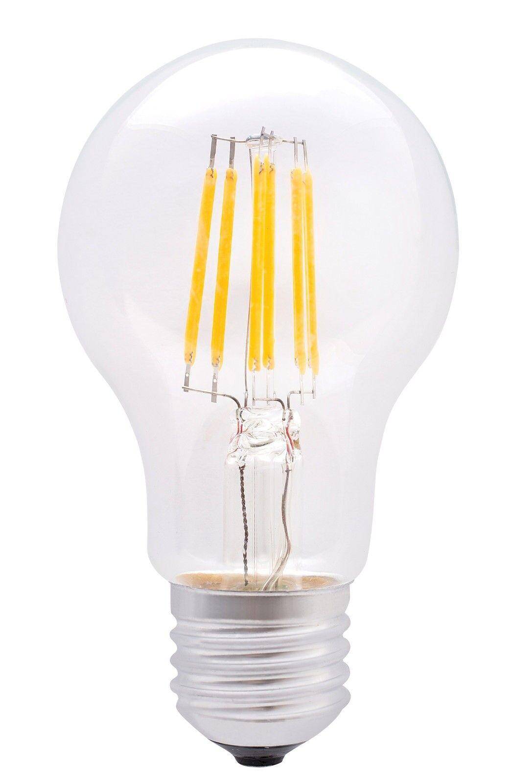 Led Glühbirne Standard Form GLS Filament Lampe 6W Schraube Fassung A+ Energie