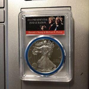 2019 W 1oz Silver Eagle Proof PCGS PR70 DCAM Donald Trump Label