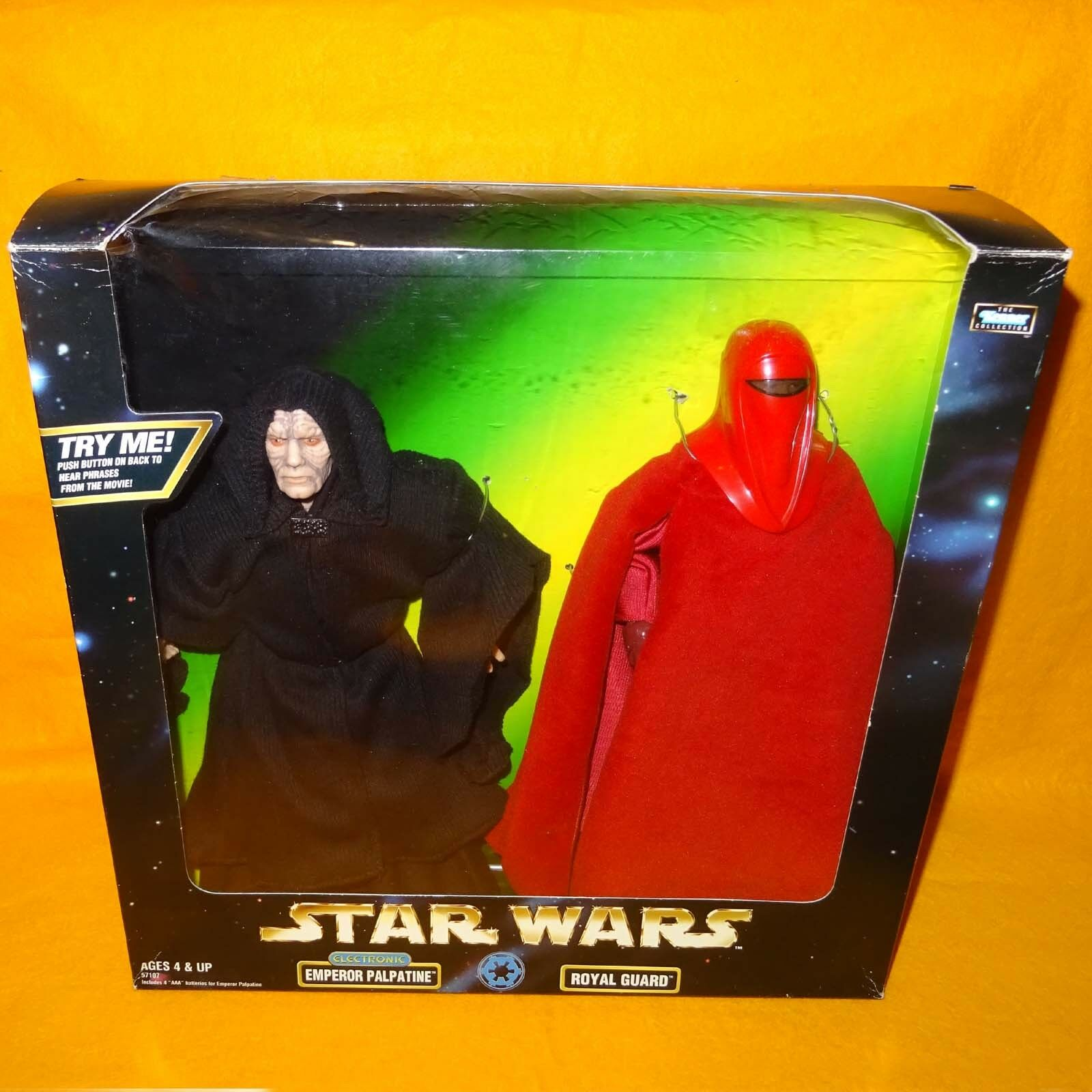 1998 HASBRO STAR WARS THE KENNER COLLECTION EMPEROR PALPATINE ROYAL GUARD BOXED
