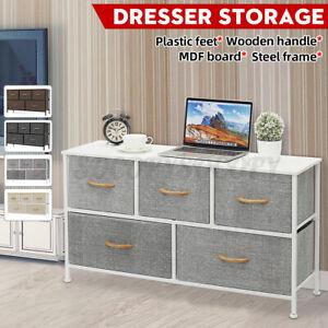 Bedroom-Storage-Dresser-Tower-Shelf-Organizer-Bins-Cabinet-with-5-Fabric-Drawers