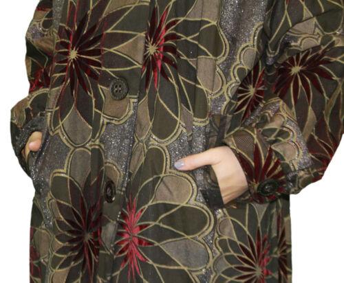 CUSTO BARCELONA Women/'s Rudy Colorscope Floral Pea Coat 792551 Sz 8//42 $660 NWT