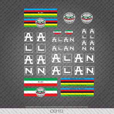 0311 Alan Bicycle Stickers Transfers Decals