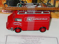 Matchbox MOY FIRE ENGINE SERIES 1947 CITROEN TYPE H VAN -Red, 1/43 MIB