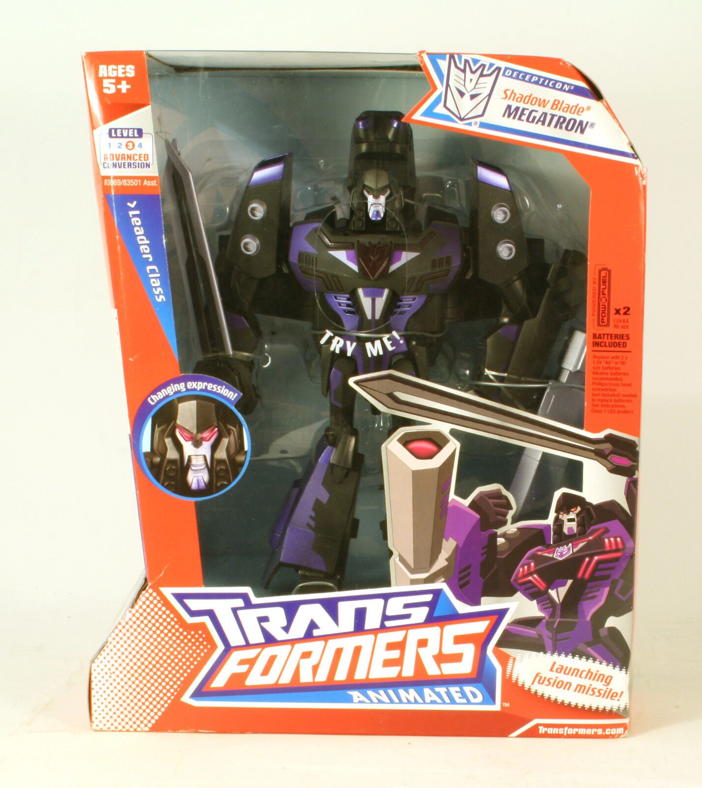 Transformers Animated Shadow Blade Megatron MIB