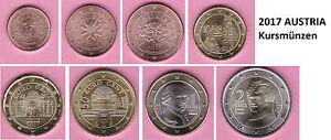 2017 ÖSTERREICH AUSTRIA Alle Kursmünzen 1 2 5 10 20 50Ct & 1€ & 2€ - Perchtoldsdorf, Österreich - 2017 ÖSTERREICH AUSTRIA Alle Kursmünzen 1 2 5 10 20 50Ct & 1€ & 2€ - Perchtoldsdorf, Österreich