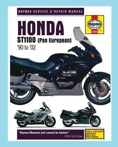 man3384 haynes workshop manual honda st st1100 pan european 1990 to rh ebay co uk 1992 Honda ST1100 Honda St 1100