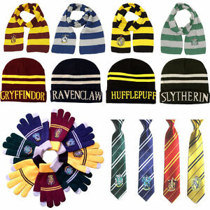 f7d460a2332 Image is loading Harry-Potter-Scarf-Tie-Hat-Cap-Costume-Gryffindor-