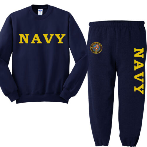 US Navy sweatpants sweatshirt usn sweats tracksuit jogging set warm-ups
