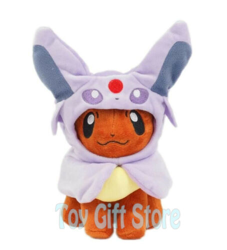 "Eevee Poncho Espeon 8/"" Poke Plush Doll Stuffed Toy"