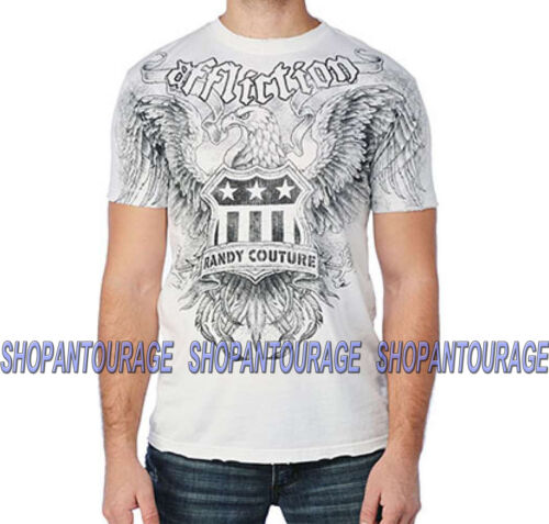 Affliction COUTURE SERVICE A6031 T-shirt White Brand New