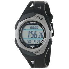 Casio STR300C-1 Ladies 60 Lap Memory Black Grey Running Watch 10 Year Battery