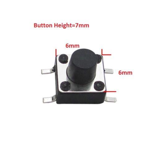 6x6 12x12mm Simple Pôle Unique Throw SMD Mount Petit Mini Micro momentanée tactile bouton-poussoir
