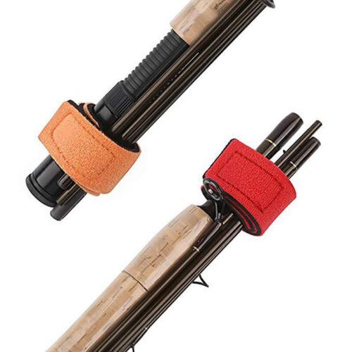 3pcs Fishing Rod Wrap Tie Holder Strap Bands Fastener Ties Fishing Kit Fix Wrap