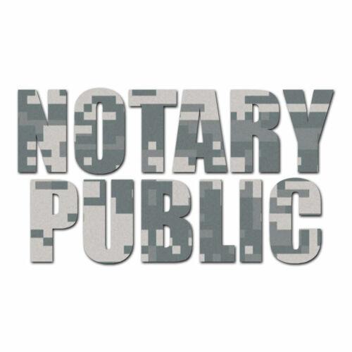 Multiple Patterns /& Sizes Notary Public ebn3498 Vinyl Decal Sticker