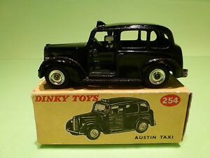 DINKY-TOYS-254-AUSTIN-TAXI-BLACK-VERY-GOOD-CONDITION-IN-BOX