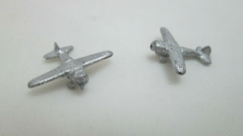 Plane #2 Dollhouse Miniature 2 Unfinished Metal Toy Airplane