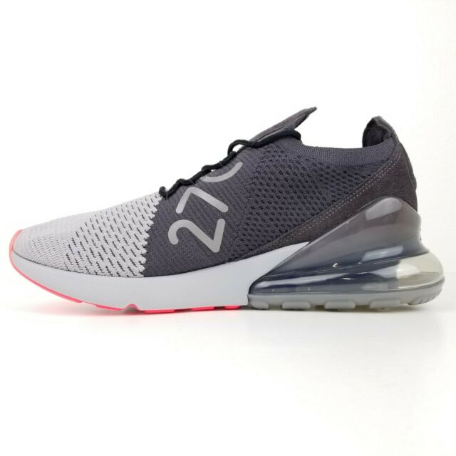 reputable site d3a32 13ad6 RARE Nike Air Max 270 Flyknit Size 10.5 Grey Fly Knit Shoes Ao1023 004